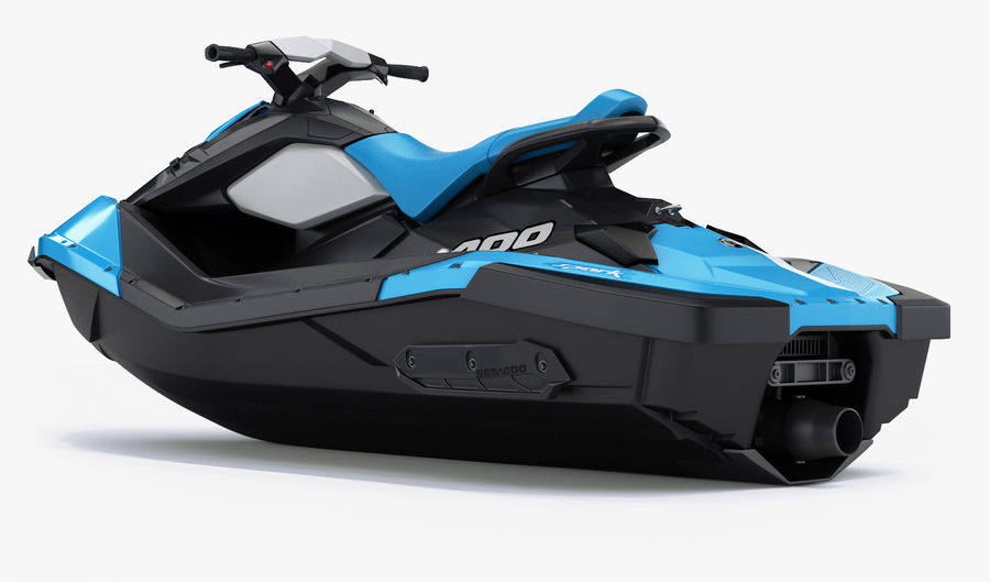 SEA-DOO Spark on Trailer royalty-free 3d model - Preview no. 16