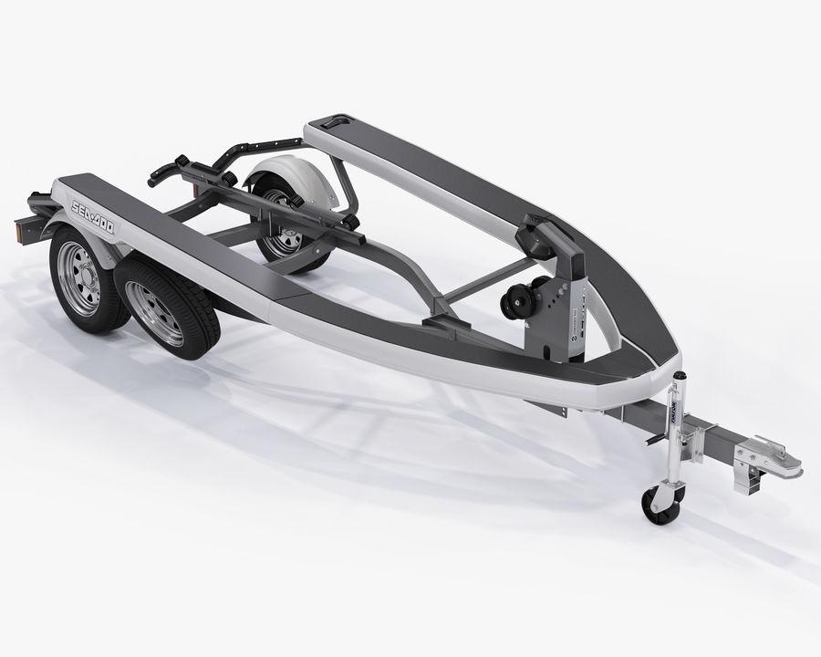SEA-DOO Spark on Trailer royalty-free 3d model - Preview no. 34
