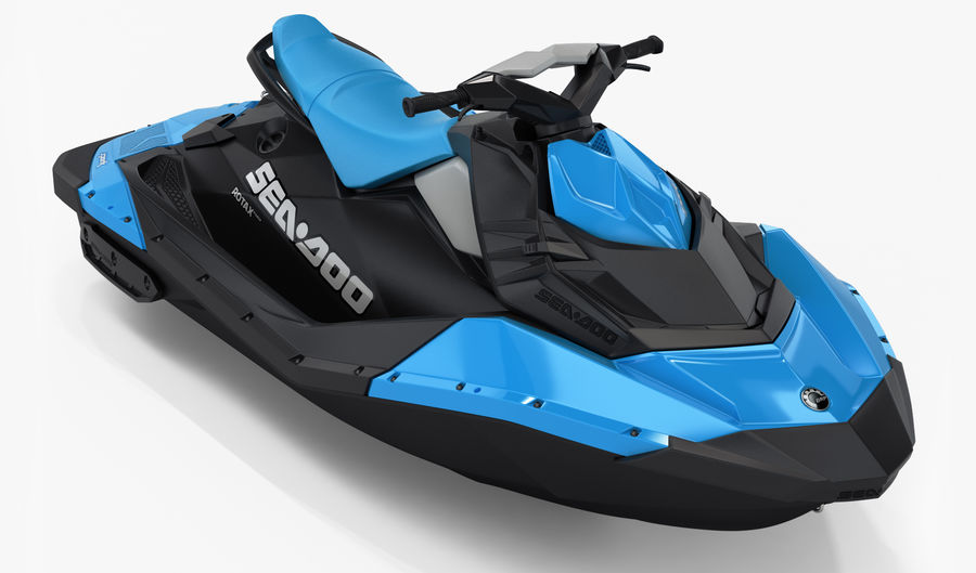 SEA-DOO Spark on Trailer royalty-free 3d model - Preview no. 10