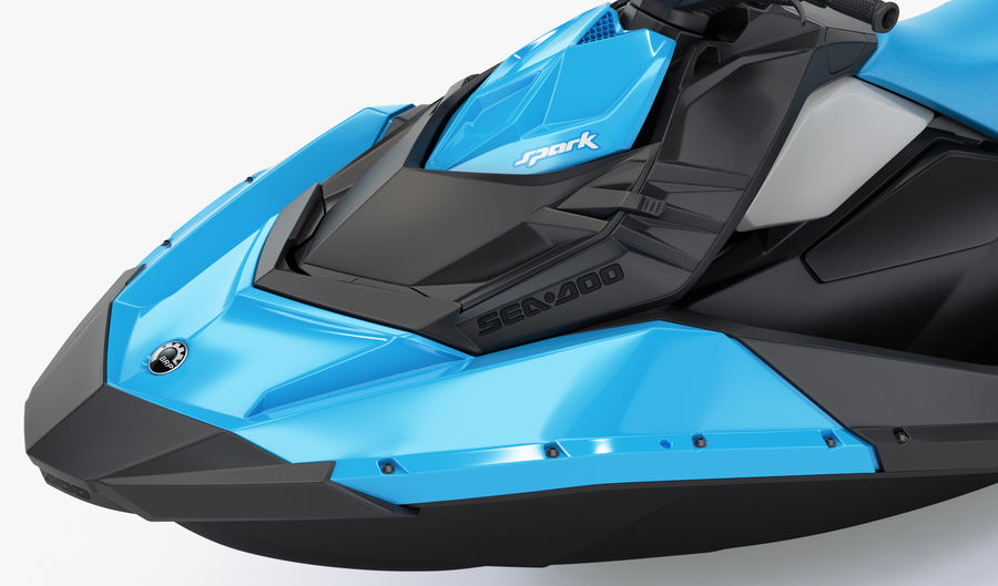 SEA-DOO Spark on Trailer royalty-free 3d model - Preview no. 20