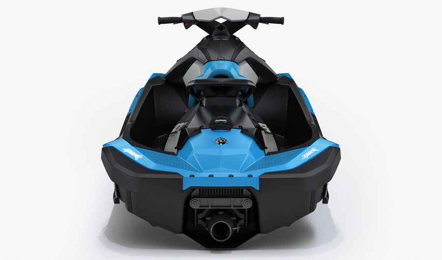 SEA-DOO Spark on Trailer royalty-free 3d model - Preview no. 17