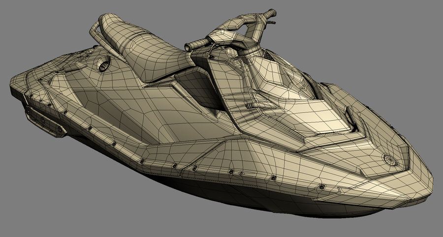 SEA-DOO Spark on Trailer royalty-free 3d model - Preview no. 23