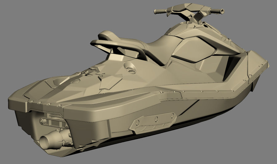 SEA-DOO Spark on Trailer royalty-free 3d model - Preview no. 26