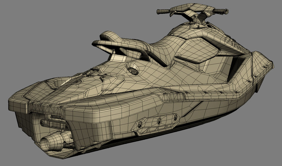 SEA-DOO Spark on Trailer royalty-free 3d model - Preview no. 27