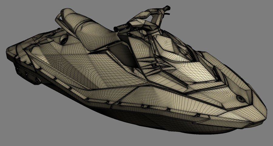 SEA-DOO Spark on Trailer royalty-free 3d model - Preview no. 25
