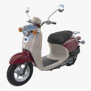 클래식 스쿠터 오토바이 일반 3d model