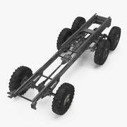 Militär-LKW-Fahrgestell 3d model