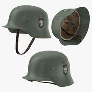ドイツ軍ヘルメット3ポーズ 3d model