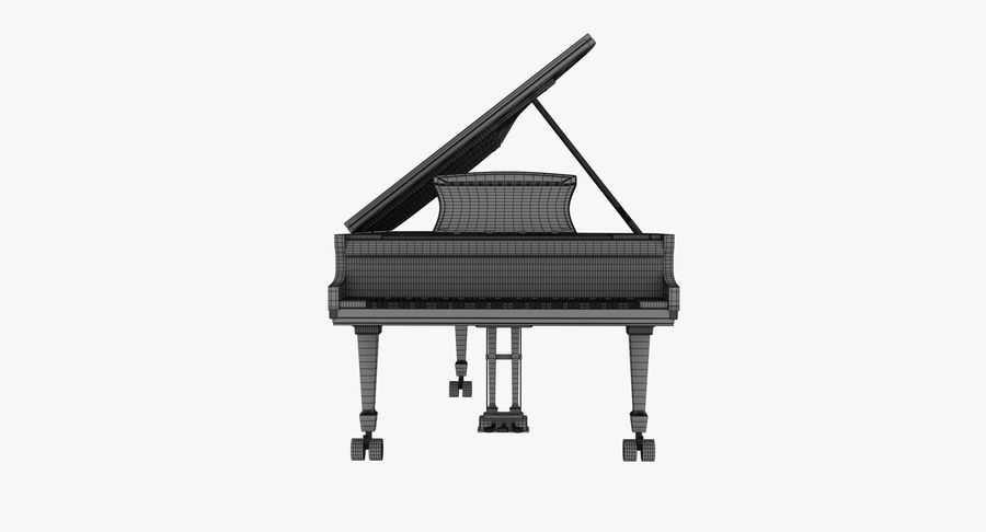 Piano Steinway Concert Grand Model D royalty-free 3d model - Preview no. 10