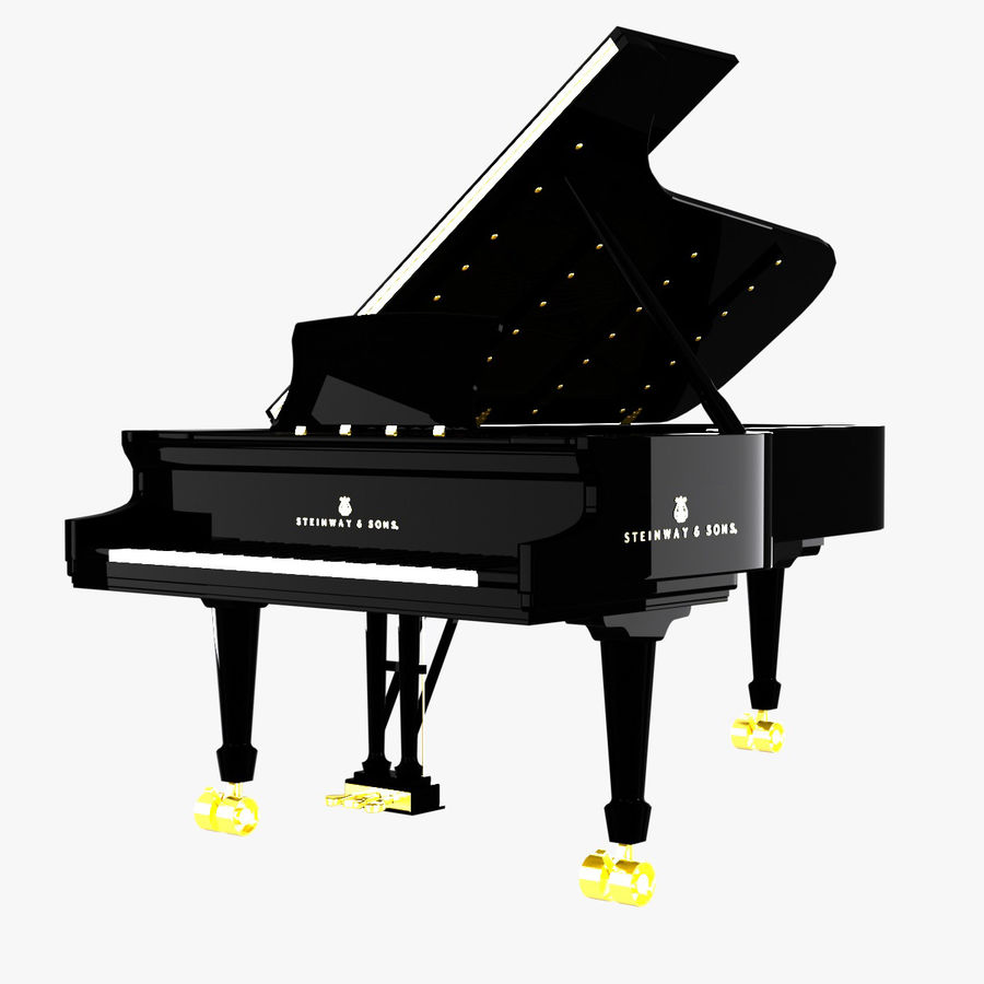 Piano Steinway Concert Grand Model D royalty-free 3d model - Preview no. 1