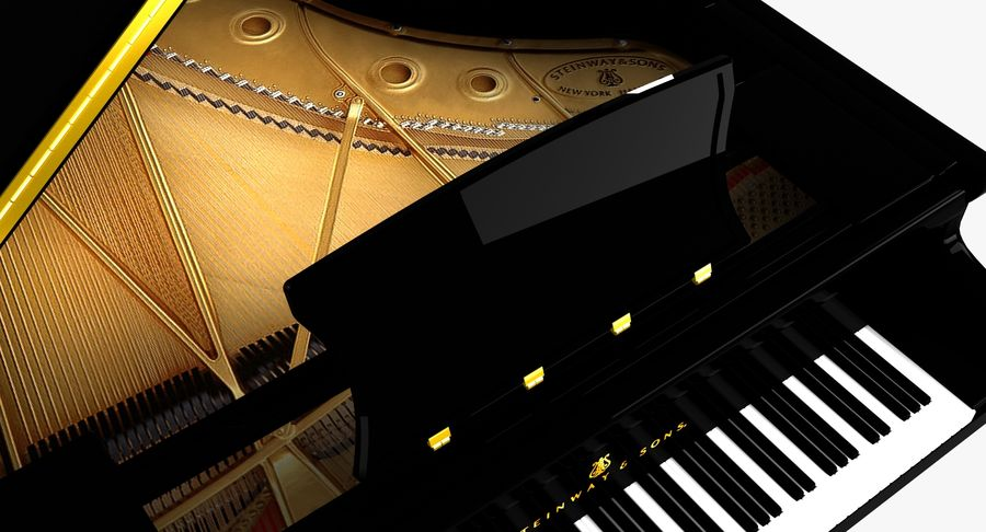 Piano Steinway Concert Grand Model D royalty-free 3d model - Preview no. 6