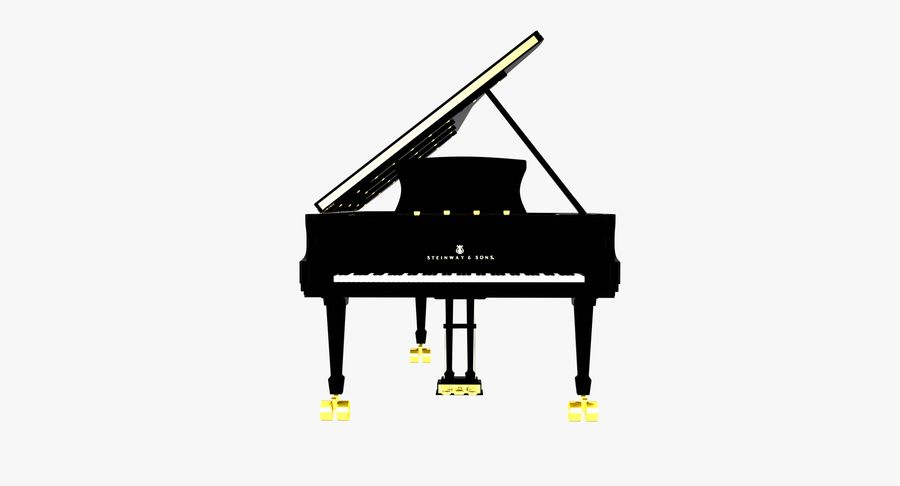 Piano Steinway Concert Grand Model D royalty-free 3d model - Preview no. 4
