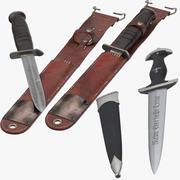 M3 Trench Knife en SS Knife 3d model
