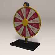 Spinning Game Wheel 3d model