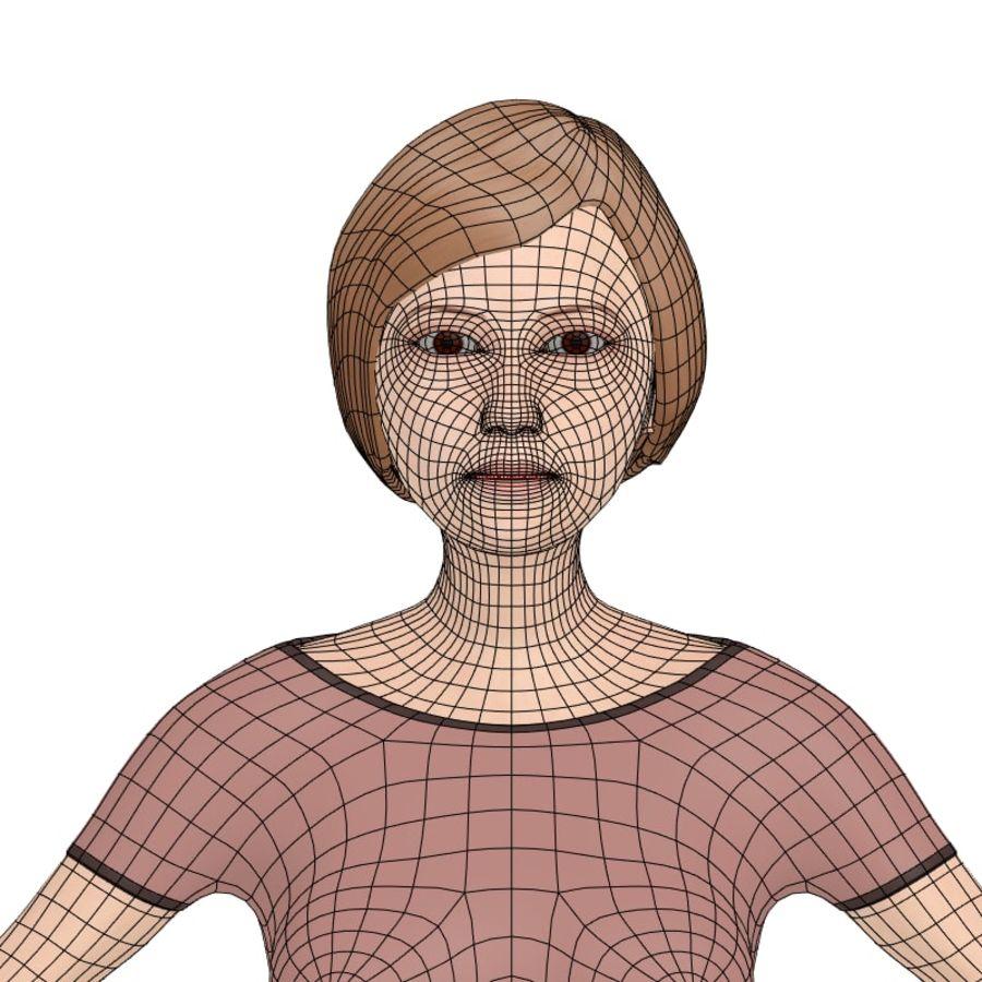 Woman_Cartoon royalty-free 3d model - Preview no. 7