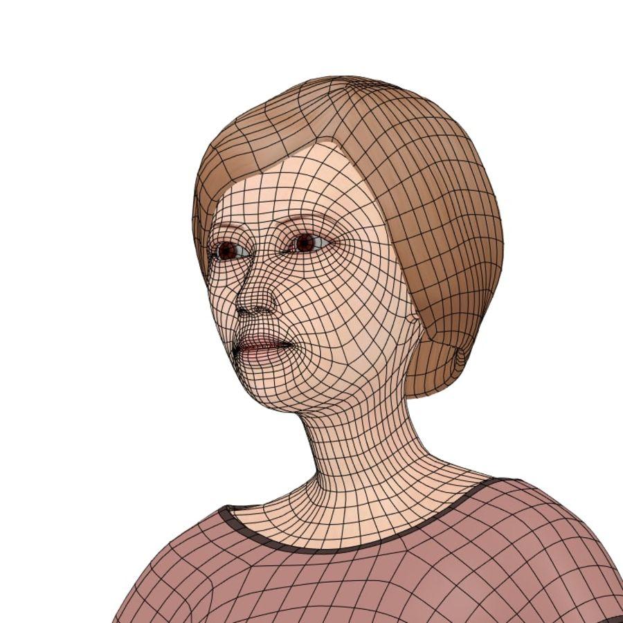 Woman_Cartoon royalty-free 3d model - Preview no. 9