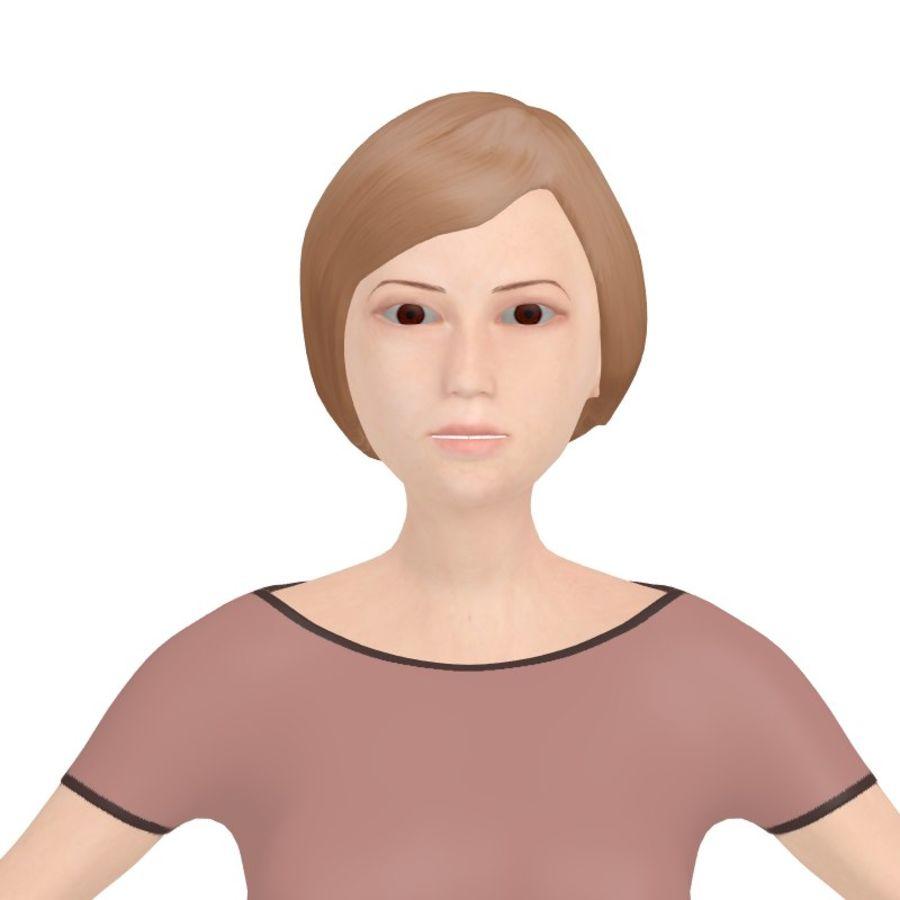 Woman_Cartoon royalty-free 3d model - Preview no. 6