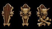 뼈 방패 3d model
