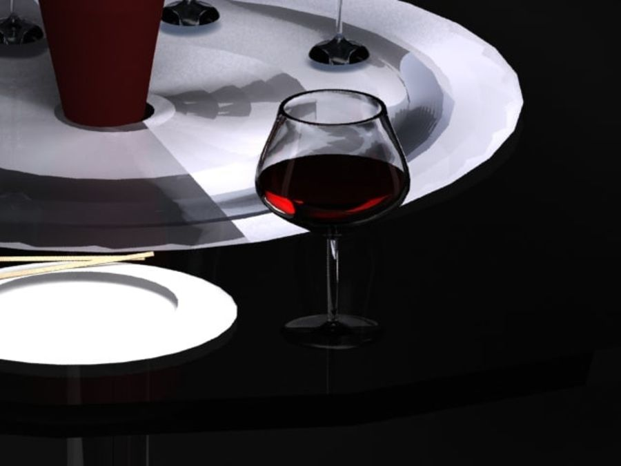Glass of Wine royalty-free 3d model - Preview no. 1