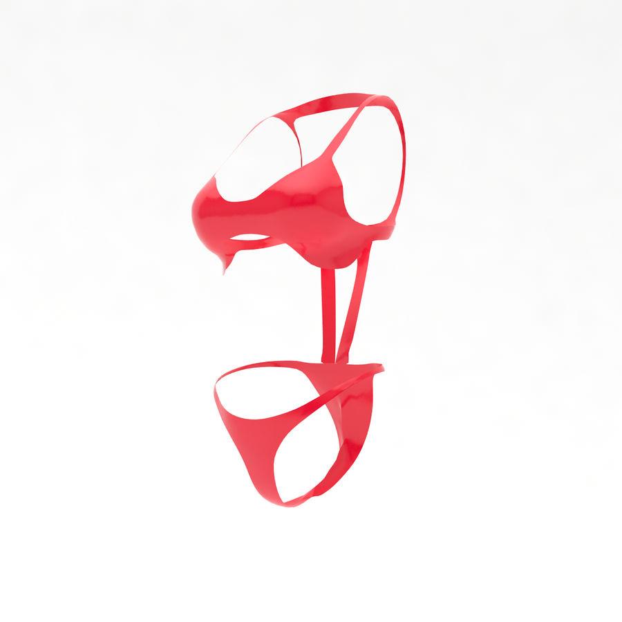Сексуальное бикини + бюст женщины royalty-free 3d model - Preview no. 4