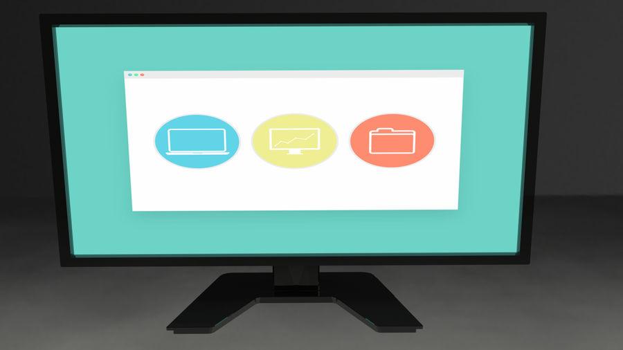 Monitor de computadora royalty-free modelo 3d - Preview no. 5