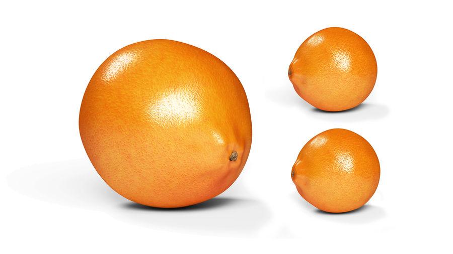 リアルなオレンジ royalty-free 3d model - Preview no. 7