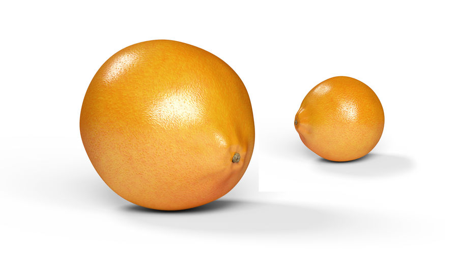 リアルなオレンジ royalty-free 3d model - Preview no. 3