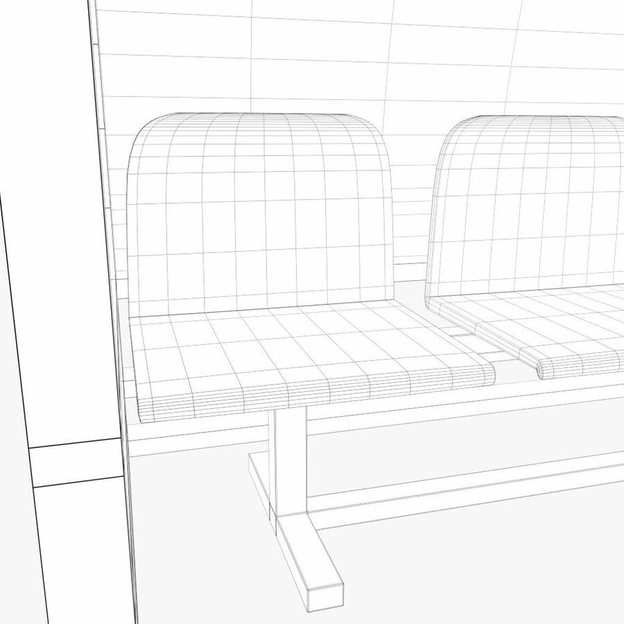 足球替补席 royalty-free 3d model - Preview no. 8