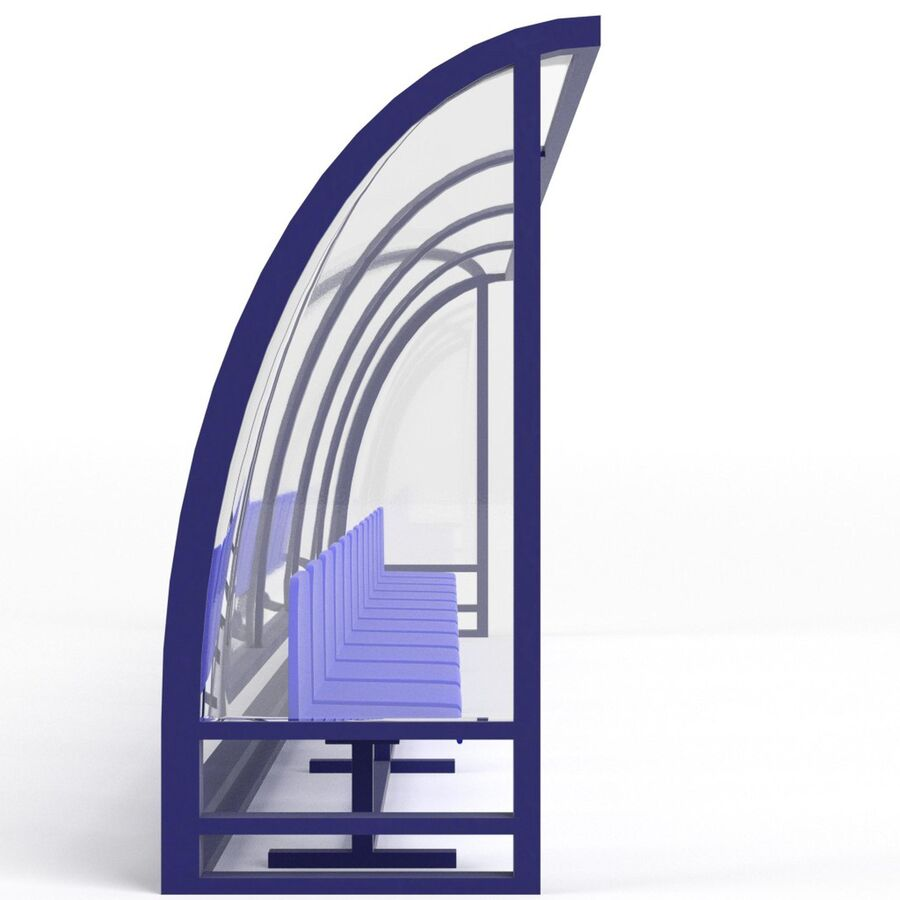 足球替补席 royalty-free 3d model - Preview no. 4