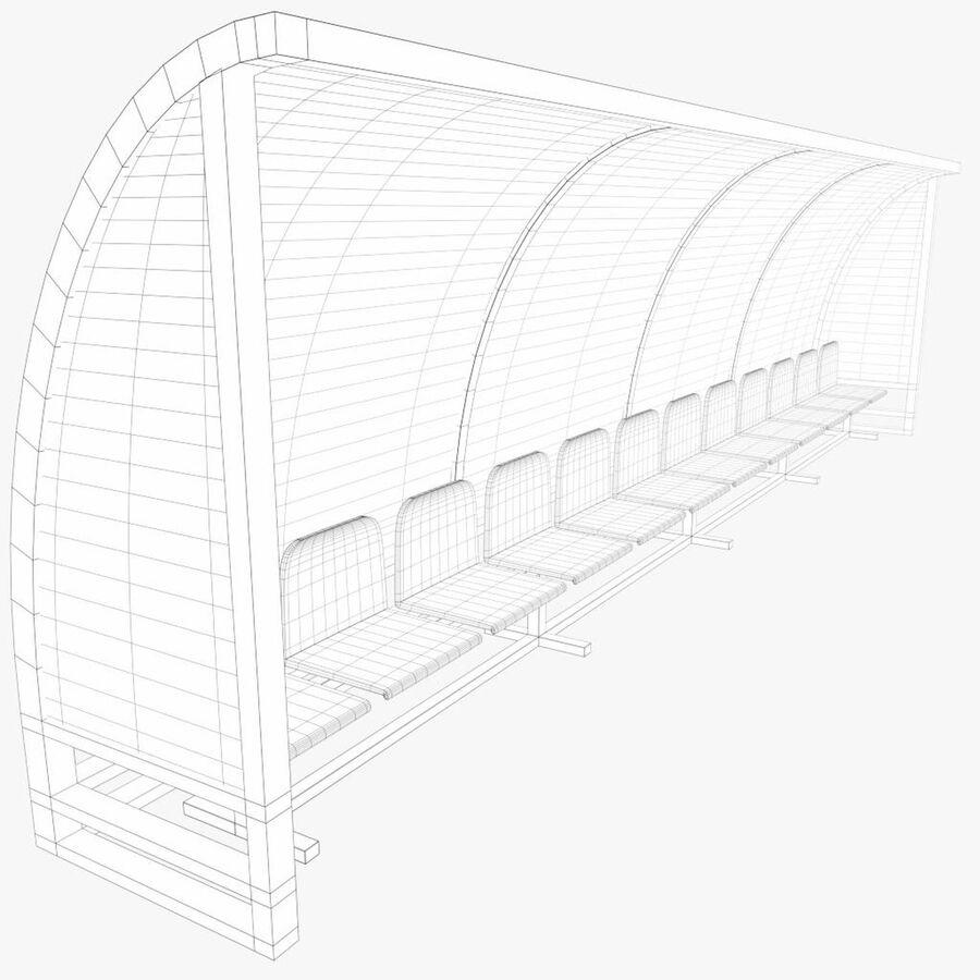 足球替补席 royalty-free 3d model - Preview no. 7
