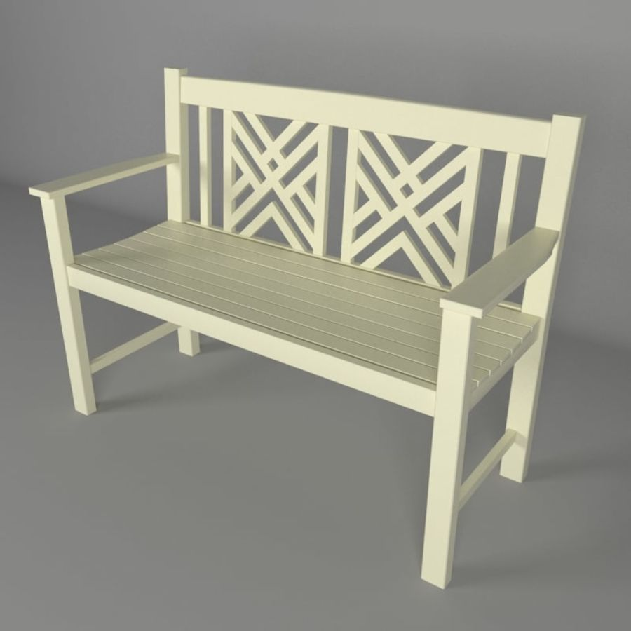 Exterior Bench royalty-free 3d model - Preview no. 1