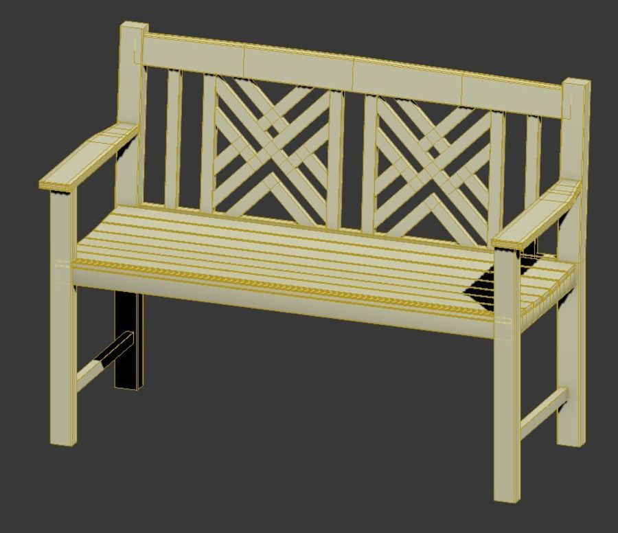 Exterior Bench royalty-free 3d model - Preview no. 5