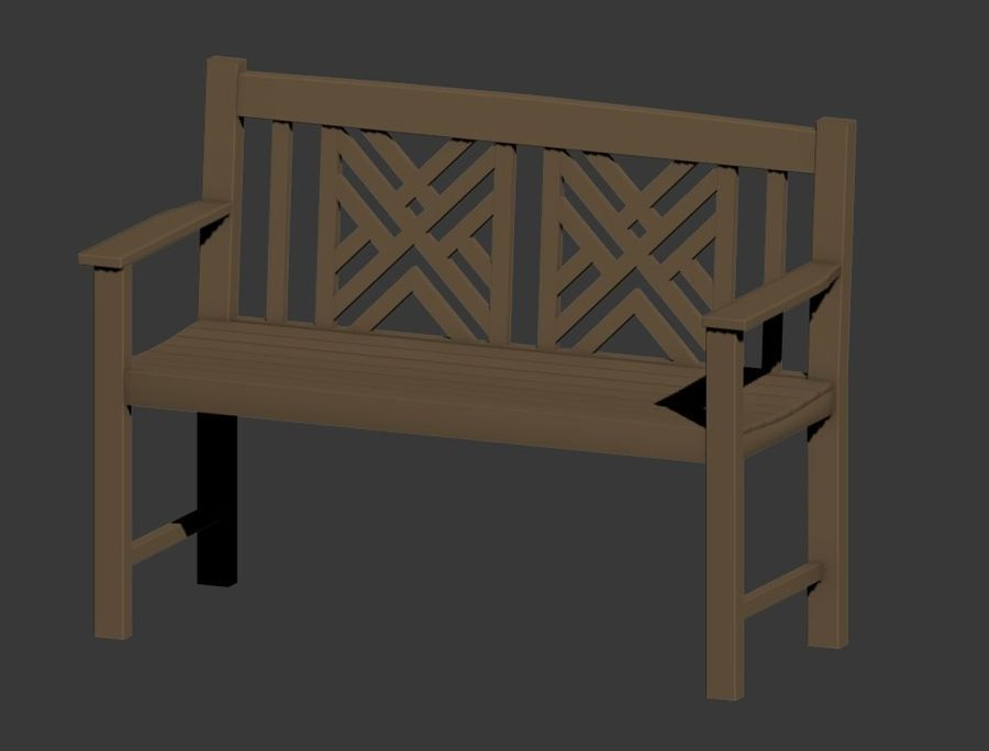 Exterior Bench royalty-free 3d model - Preview no. 4