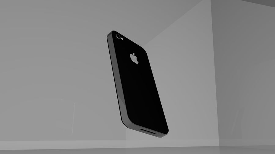 iphone 4 royalty-free 3d model - Preview no. 4