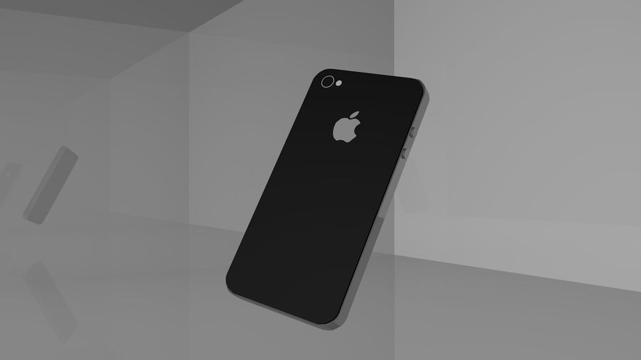 iphone 4 royalty-free 3d model - Preview no. 2