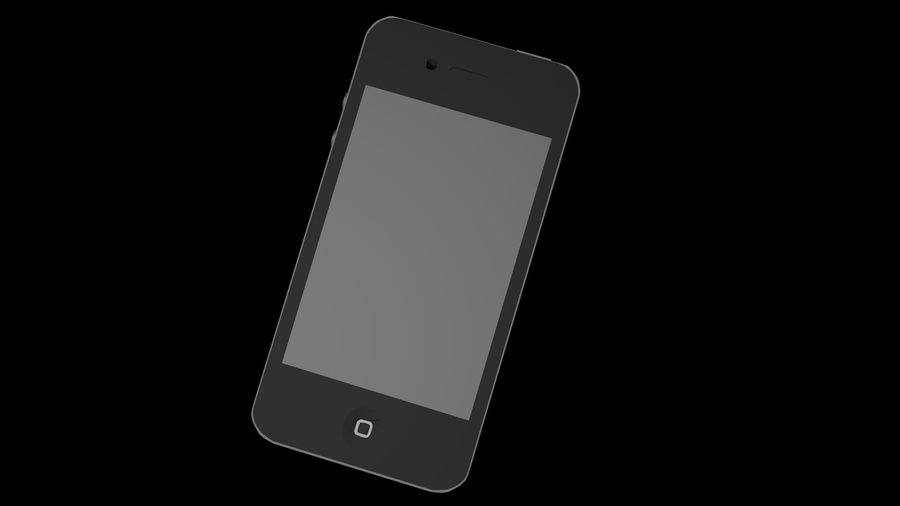 iphone 4 royalty-free 3d model - Preview no. 5