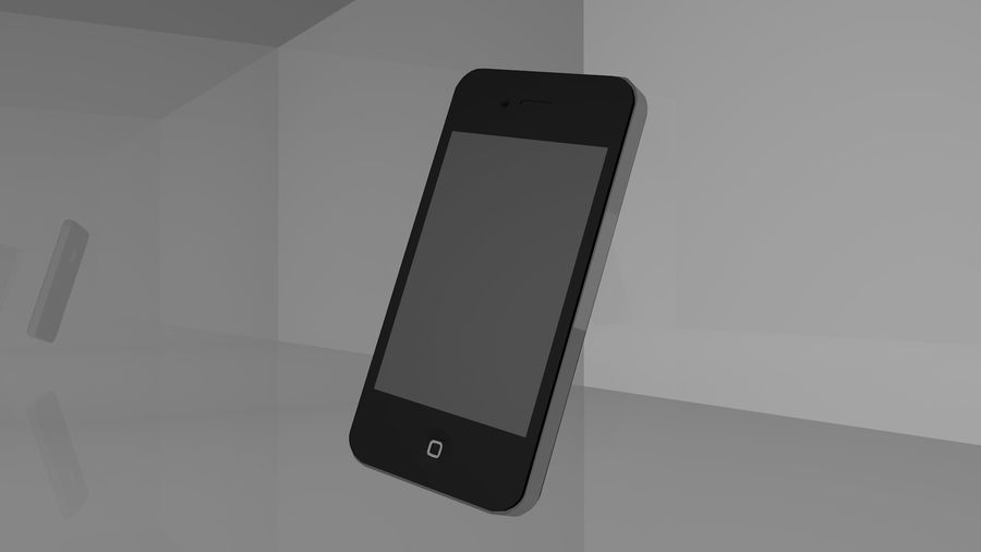 iphone 4 royalty-free 3d model - Preview no. 1