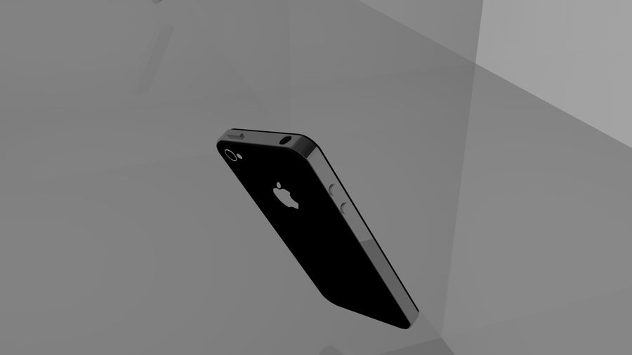 iphone 4 royalty-free 3d model - Preview no. 3