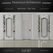 室内设计墙板 3d model