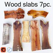Wood Slabs 7pc 3d model