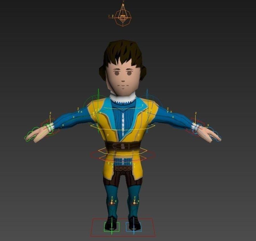 Personagem medieval liegeman 5 royalty-free 3d model - Preview no. 15