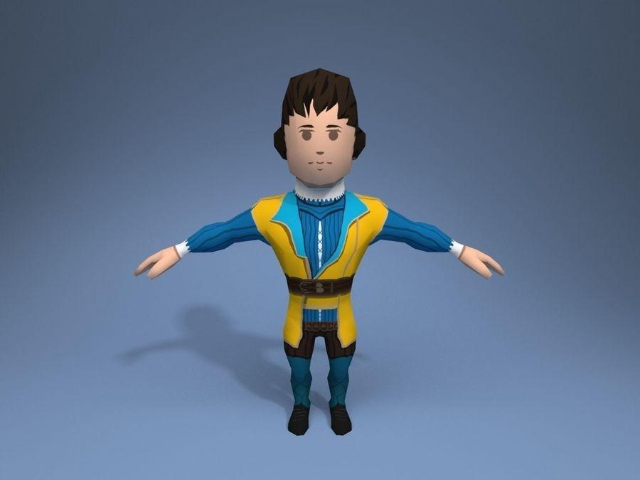 Personagem medieval liegeman 5 royalty-free 3d model - Preview no. 1
