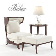Chaise et ottoman Baker Atrium 3d model