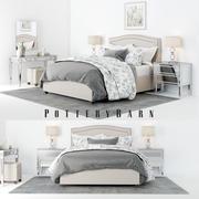 Pottery Barn Tamsen Bedroom set 01 3d model