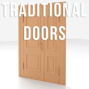 Traditional doors 3d model