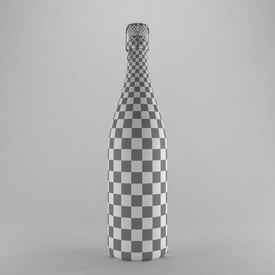 champagne bottle royalty-free 3d model - Preview no. 5