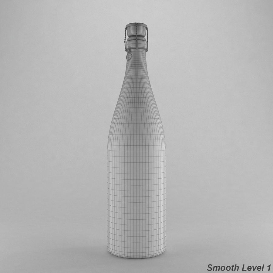 champagne bottle royalty-free 3d model - Preview no. 7