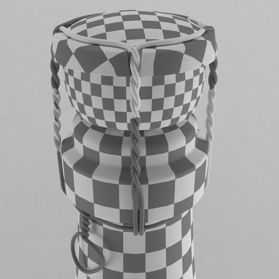champagne bottle royalty-free 3d model - Preview no. 3