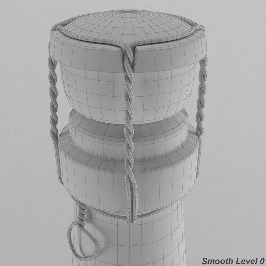 champagne bottle royalty-free 3d model - Preview no. 4