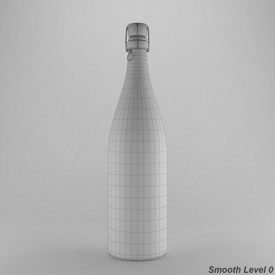 champagne bottle royalty-free 3d model - Preview no. 6